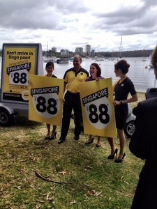 Campbell Wilson, CEO Scoot, and WA Tourism Minister Liza Harvey