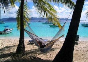 IDYLLIC beach lives up to the local adage: How beautiful to do nothing all day, and rest up afterwards. (BVI Tourism)