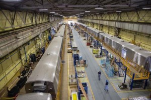 New Amtrak long distance cars being built by CAF USA at its Elmira, N.Y., facility. Amtrak long distance services provide mobility and economic opportunity to communities across America.