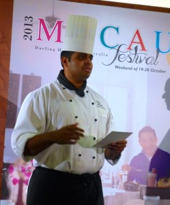 Desmond Carneiro,executive sous chef, Feast Restaurant, Sheraton on the Park Sydney
