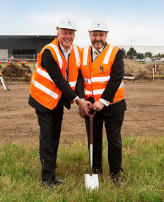 Quest - Melbourne Airport sod turning_005:  Paul Constantinou - Chairman, Quest Serviced Apartments, Chris Woodruff – CEO Melbourne Airport.