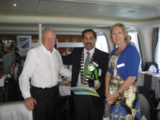 Karan Singh with Max Player and Suzanne Stanton