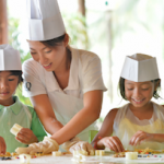 Kids cooking class at Club Med Cherating