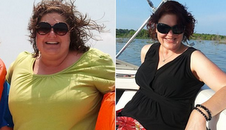 Kim Wright before and after - photo by Slimming World