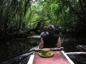 PICTURESQUE canoe rides one of Kosrae's many attractions. (Katrina Adams)