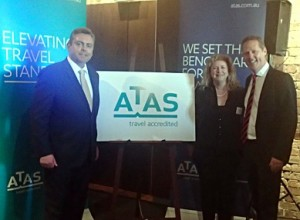 MTA - ATAS launch - Karen Merricks with Anthony Roberts and Jayson Westbury October 2013