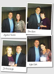 Sydney based personal travel managers; Agatha Vicario, Bev Burt, Jo Ainscough and Kylie Cilek receive their five year milestone awards with TravelManagers' General Manager Michael Gazal, at the recent New South Wales - South regional meeting.