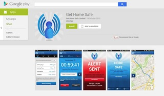Screen Grab - Get Home Safe now available on Google Play