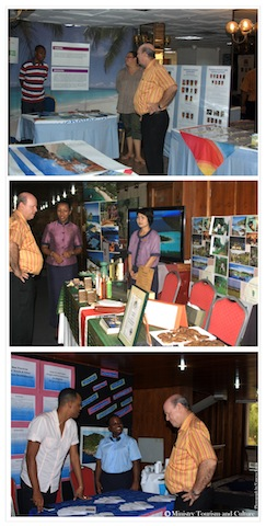Alain St Ange Seychelles Minister for Tourism and Culture take stocks of Seychelles Tourism Fair