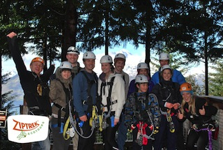 Ziptrek Ecotours Queenstown with Remarkables mountains as backdrop