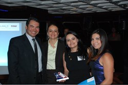 From left to right: Manoel Suhet (VP, Sales at LATAM), Paola Penarete (Director, Sales at LATAM), Carolina Serrano (Director, Supplier Relations at Fareportal) and Marjorie Aroca (Key Account Manager
