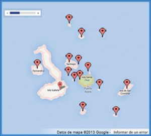 VOYAGERS TRAVEL GALAPAGOS ISLANDS TRAVEL MAP
