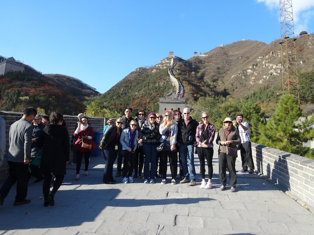 Beginning of our climb - Juyongguan section of the Great Wall Nov 2013 (1)