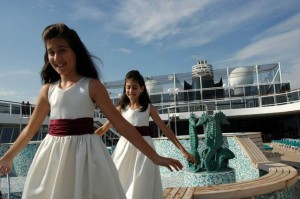 Crystal Cruises – Children on deck during a formal night