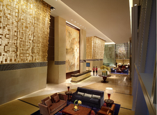 Lobby at the China World Summit Wing hotel in Beijing