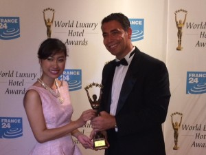 Michel Chertough with World Luxury Hotel Award Comitee