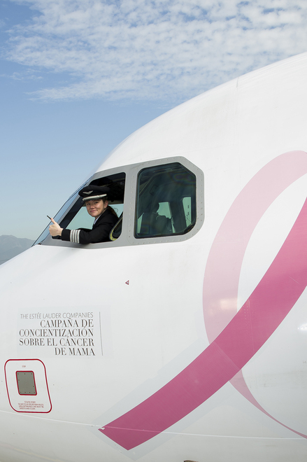 Pink Airline logo launch
