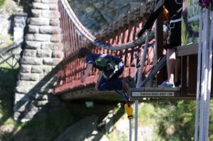 Remarkables Primary School student Matthew Bell takes the leap of faith_media