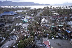 Tacloban Airport in Philippines covered by debris
