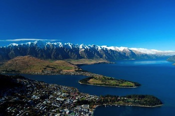 The Queenstown landscape beneath The Remarkables