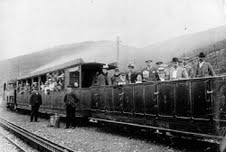 Trains open topped little train in wales historic.snowdonia rail co