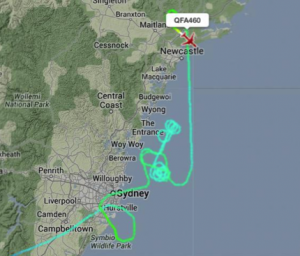 Twitter link shows tortuous flight path
