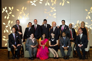 Winners of Carlson Rezidor's Annual Awards with Simon C. Barlow, president, Asia Pacific (third from left, back row)