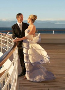 Crystal Cruises' guests enjoy a private moment on the deck of Crystal Serenity