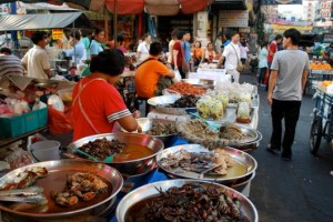Street in Penang, Malaysia which is also called as 'Hawkers Paradise'