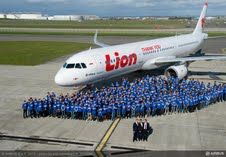 picture at Airbus in France when Lion signed for 234 Airbus narrowbodies