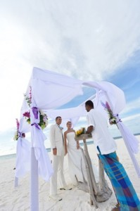 A tropical sandbank wedding at Six Senses Laamu, Maldives