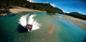 Dart River Jet guests enjoy jet boating in the World Heritage area of Mt Aspiring National Park_media