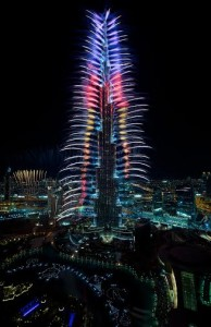 Fireworks at Burj Khalifa, Downtown Dubai