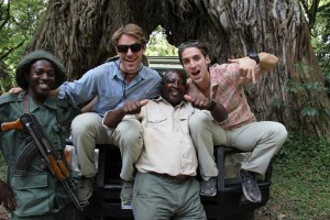 The brothers enjoyed safari in Arusha National Park Tanzania