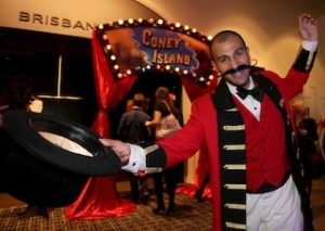 Andrew Natoli swaps concierge duties for a ringmaster role as Sofitel Melbourne On Collins prepares for another year of theatre sponsorship