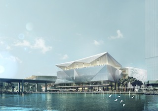 International Convention Centre at Cockle Bay - artists impression