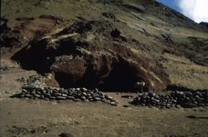 Robinson Crusoe's cave-home where he lived for four years and four months.  (Wikimedia)