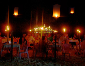 FIRST-ever SeaDream Night Beach Party on a remote Thailand island. (Roderick  Eime/Travography.com)