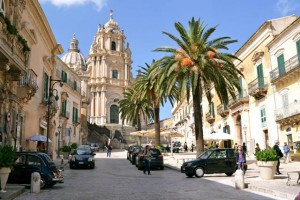 The UNESCO World Heritage city of Ragusa in Sicily