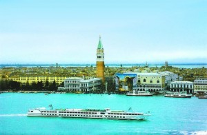 Cruising out of Venice aboard the Michelangelo