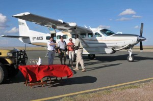 Bench's Cessna Grand Caravan aircraft ... a very personal way to tour Africa