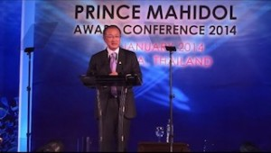 World Bank Group President Dr. Jim Yong Kim gives his speech at the Gala dinner about the updates on world health issues.