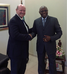 Photo Caption: Minister Alain St.Ange (Seychelles) and Minister Carvalho Muaria (Mozambique)