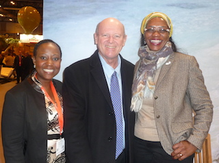 Ms Phindile Ngcobo, Minister Alain St.Ange and Minister Sylvia Masebo