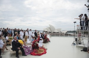 4. Taking the Historic Image of Queen Mary 2 crew to celebrate the liner's 10th birthday MANDATORY CREDIT James Morgan