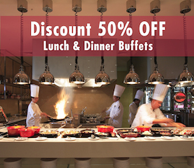 50OFF Buffet at Cuisine Unplugged