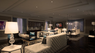 Boasting 19 impressive suites, ranging in size from 723 sq ft to the 2,550 sq ft Cromwell Suite and are strategically positioned for guests to enjoy great views of the Las Vegas Strip.
