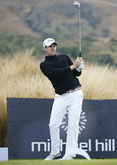 Adam Blyth made only 19 putts today to share the lead of the NZ Open
