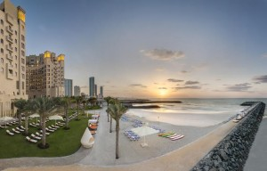 Beach at Sunset -The Ajman Palace