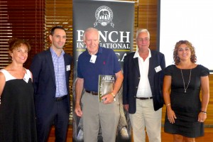 Bench team in Sydney at company's 45th anniversary, with founder Charles Bench at centre